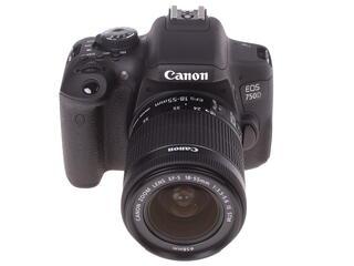 Зеркальная камера Canon EOS 750D kit 18-55mm IS STM черный