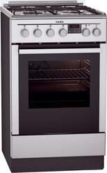 Газовая плита AEG 47335G9-MN серебристый, коричневый