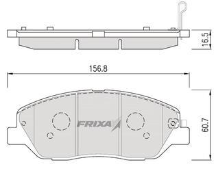 Тормозные колодки Hankook Frixa FPH23