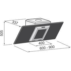 Вытяжка каминная Korting KHC 6958 X серебристый