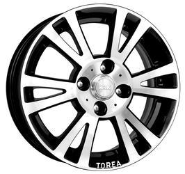 Автомобильный диск Литой K&K Тореа 5,5x14 4/100 ET 45 DIA 56,1 Алмаз черный