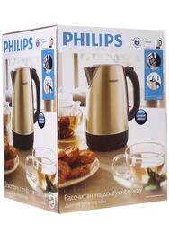 Электрочайник Philips HD 9324/50 золотистый