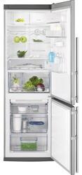 Холодильник с морозильником Electrolux EN3487AOX серебристый