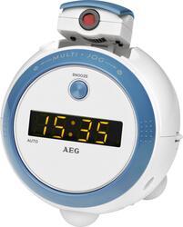 Часы проекционные с будильником MRC 4126 P белый/голубой