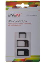 Адаптер ONEXT nano-SIM - micro-SIM черный