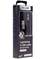 Кабель PQI i-Cable Metallic 100 USB - Lightning 8-pin серый