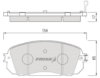 Тормозные колодки Hankook Frixa FPK22