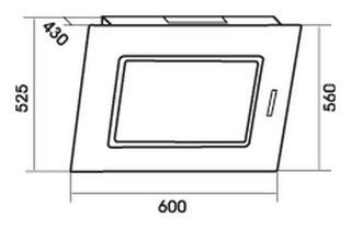 Вытяжка каминная MBS Narcis 160 Glass серебристый, черный