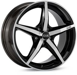 Автомобильный диск Литой OZ Racing Canova 8x17 5/112 ET 48 DIA 75 Black + Diamond Cut
