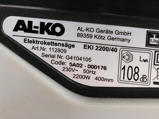 Цепная пила AL-KO EKI 2200/40
