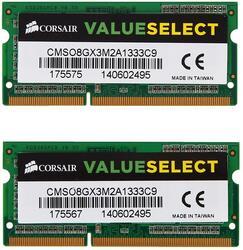 Оперативная память SODIMM Corsair [CMSO8GX3M2A1333C9] 8 Гб