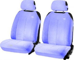 Накидка на сиденье H&R SUPER MALIBU FRONT передняя, велюр букле, т.синяя