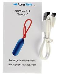 Портативный аккумулятор AccesStyle Z019 красный