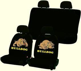 Чехол на сиденье майка в комплекте H&R BULDOG эластик, черный,