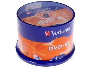 Диск DVD-R 4.7Gb Cake Box  50 шт. (Verbatim) 16x