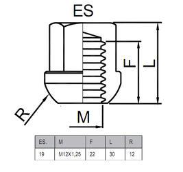 Гайки-секретки HEYNER AC 42562