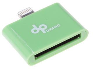 Переходник DIOPRO VAP-CBL5012 30-pin - Lightning 8-pin зеленый