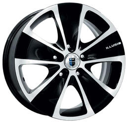Автомобильный диск Литой K&K Иллюзио 6,5x16 5/114,3 ET 40 DIA 71,6 Алмаз черный