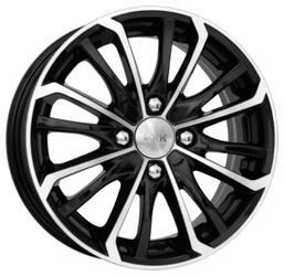 Автомобильный диск Литой K&K Рим 6x15 4/108 ET 38 DIA 63,35 Алмаз черный
