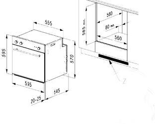 Электрический духовой шкаф Korting OKB 482 CRSN