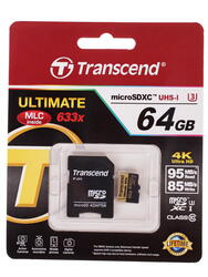 Карта памяти Transcend Ultimate microSDXC 64 Гб