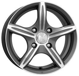 Автомобильный диск Литой K&K Мирель 6x14 4/98 ET 38 DIA 58,5 Алмаз графит