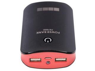 Портативный аккумулятор InterStep IS-AK-PB7800UBR-000B201 красный, черный