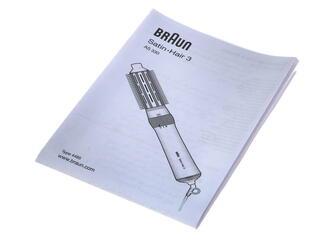 Фен-щетка Braun AS 330 серебристый