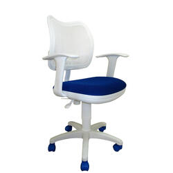 Кресло детское Бюрократ CH-W797 синий, белый