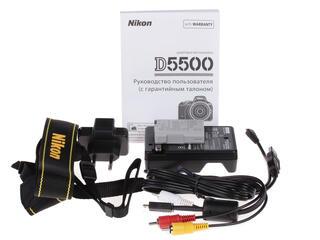 Зеркальная камера Nikon D5500 Body черный