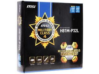 Материнская плата MSI H81M-P32L