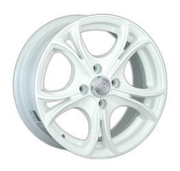 Автомобильный диск литой LS 393 6x14 4/98 ET 35 DIA 58,6 White
