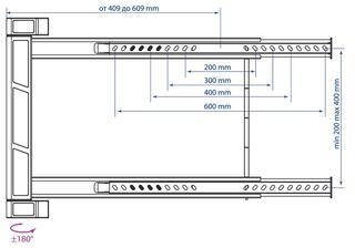 Кронштейн для телевизора Kromax LEDAS-90