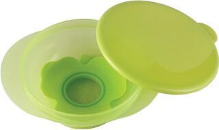 Тарелка на присоске с крышкой Happy Baby EAT & CARRY