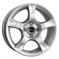 Автомобильный диск  K&K Аура 7x16 4/100 ET 38 DIA 67,1 Сильвер