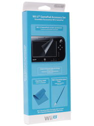 Стилус, защитная пленка, салфетка для WiiU GamePad