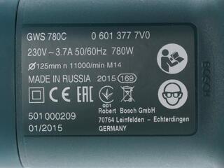 Углошлифовальная машина Bosch GWS 780 C