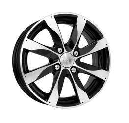 Автомобильный диск литой K&K Джемини 6x15 4/114,3 ET 43 DIA 67,1 Алмаз черный