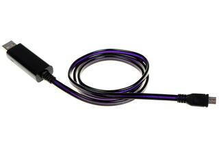 Кабель Solomon USB - micro USB черный, фиолетовый