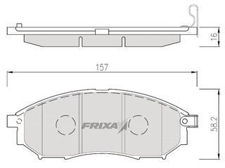 Тормозные колодки Hankook Frixa FPS04