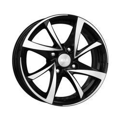 Автомобильный диск литой K&K Игуана 7x17 5/100 ET 48 DIA 56,1 Алмаз черный