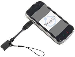 Переходник Brando SUBAD001200 mini USB - micro USB черный