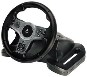 Руль Logitech Driving Force Wireless (280мм/14кнопок/вибр+обр связь, PC/PS3)