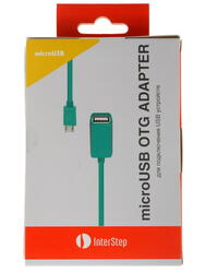 Кабель InterStep IS-DC-COTGMFTBL-000B201 micro USB - USB-host