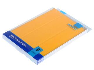 """Чехол-книжка для планшета универсальный 8""""  желтый"""