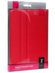 """Чехол-книжка для планшета универсальный 8""""  красный"""