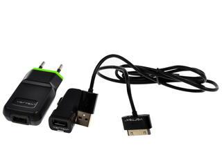 Сетевое + автомобильное зарядное устройство Vertex PN0540EUBK-GN/CL101BK/IPC
