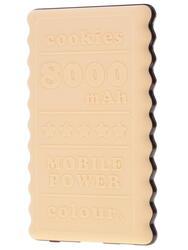 Портативный аккумулятор Qumo PowerAid Biscuit 8000 коричневый