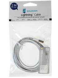 Кабель Solomon Lightning 8-pin - USB A белый