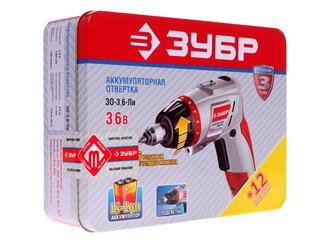 Аккумуляторная отвертка Зубр ЗО-3.6-ЛИ